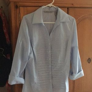 Pinstriped fitted blouse